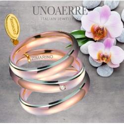 Fede Comoda UNOAERRE rosa bicolore 4 mm