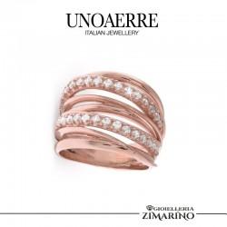 UNOAERRE anello Argento